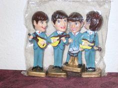 1960's Beatles Bobblehead / Cake Toppers  by SugarBearHair on Etsy, $175.00  www.etsy.com/shop/sugarbearhair