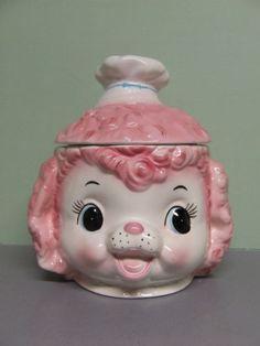 Vintage Lefton Pink Poodle Cookie Jar (made in Japan)
