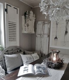 Love This Shabby Chic Room The Grey And Mushroom Colors