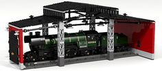 LEGO Train Roundhouse with Train by Fachman