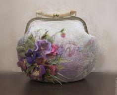 """Купить Сумка валяная """"Акварельная Нюта"""" - цветочный, сумка валяная, сумка войлочная, Валяние"""