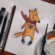 700 отметок «Нравится», 11 комментариев — ◽️Tania Samoshkina◽️ (@samoshkina_art) в Instagram: «Fox photographer logo for one good girl;) #samoshkinaart #soulart #wip #wonwalls #watercolors…»