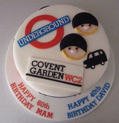 Made for a Mam and Son going on a trip to London to celebrate their birthdays. London Party, London Cake, Fondant Cakes, Cupcake Cakes, Cupcakes, Cupcake Ideas, 6th Birthday Cakes, 4th Birthday Parties, Union Jack Cake