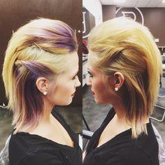 Inspiration by Samantha Lucas from Salon Spectrum. Medium Hair Styles, Short Hair Styles, Goth Hair, 80s Hair, Birthday Hair, Hair Heaven, Chic Hairstyles, Crazy Hair, Hair Today