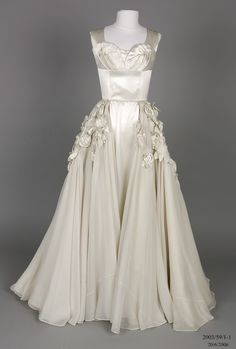 1952 Wedding dress designed and made by Beril Jents.