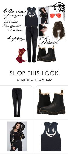 """""""Discord 1"""" by stockmon ❤ liked on Polyvore featuring Current/Elliott, Dr. Martens, Burton, Ann-Sofie Back, discord, generations, Stockmonset and LangeFamily"""