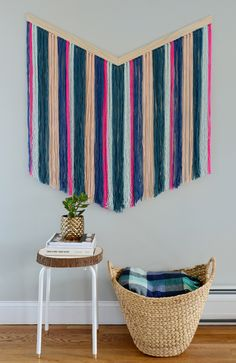 Yarn Wall Art diy yarn wall art | yarn wall art, wall art crafts and wall hangings