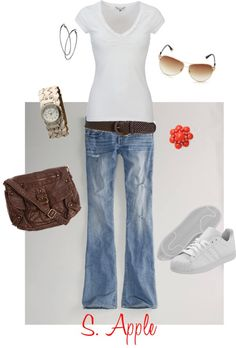 """Just a white t-shirt..."" by sapple324 on Polyvore"
