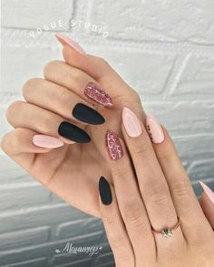 125 trending light nails color for fall winter -page 28 > Homemytri.Com 125 trending light nails col Light Colored Nails, Light Nails, Pink Manicure, Pink Nails, Cute Acrylic Nails, Matte Nails, Acrylic Nails Almond Matte, Fall Almond Nails, Stiletto Nails