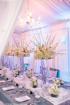 Gorgeous White and Blue Wedding // Photographer: Alante Photography //  Design and Rentals: Grand Event Rentals // Floral Design: Rented Elegance