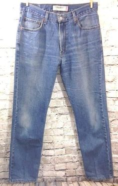 Levis 505 Mens 34x34 Regular Straight Leg Fit 100% Cotton Jeans Distressed Wash #Levis #ClassicStraightLeg