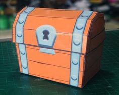 Clash Royale Chest Free Papercraft Download - http://www.papercraftsquare.com/clash-royale-chest-free-papercraft-download.html#Chest, #ClashRoyale