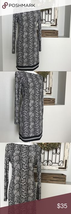 Michael Kors Snake Print Shift Dress Michael Kors Snake Print Shift Dress - Size medium. Excellent condition. Michael Kors Dresses Midi