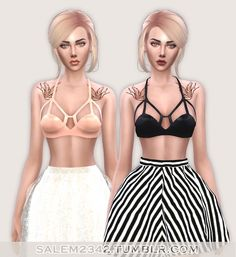 Latex Bra at Salem2342 via Sims 4 Updates