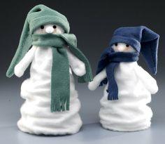 Scrunchy Felt Snowmen