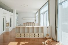Nursery with maximized natural lighting in Japan