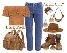 """Casual Chic? Back Pack"" by penelopepoppins ❤ liked on Polyvore featuring Janessa Leone, Le Donne, Chanel, Victoria Beckham, Dorothy Perkins, Urbiana and AmiciMei"