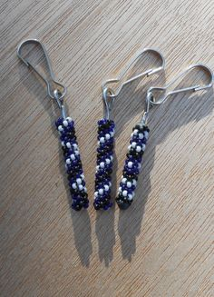 Peyote Stitch Beaded Zipper Pull (Cobalt Blue) Design Choices