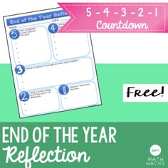 Amazing Free Reflection Activity For Your Middle And High School Students!