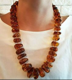 Beautiful Hand made Baltic Amber Necklace. Baltic Amber necklace made of irregular disk shapeamber beads. We use only natural authentic Baltic amber to make the amber necklace. Knot Necklace, Necklace Set, Beaded Necklace, Baltic Amber Necklace, Amber Beads, Round Beads, Wearable Art, Gemstone Beads, Beaded Jewelry