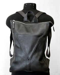 leather backpack by Leonid Titow, via Behance