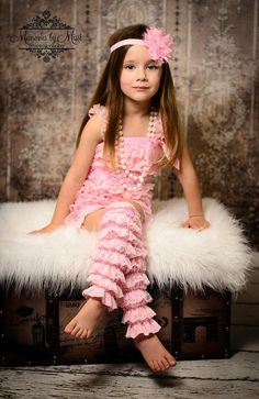 3pcs Romper set Baby Pink Lace Romper set Romper by HappyBOWtique, $42.99