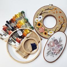 hearthandmade | Beacons mobile website Dmc Embroidery Floss, Simple Embroidery, Learn Embroidery, Silk Ribbon Embroidery, Hand Embroidery Patterns, Embroidery Kits, Embroidery Designs, Embroidery Materials, Geometric Embroidery