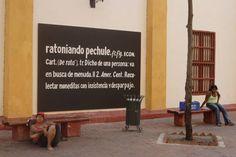 Obra de Rafael Ortiz y Wilger Sotelo, en Cartagena de Indias (Colombia) sobre el español.