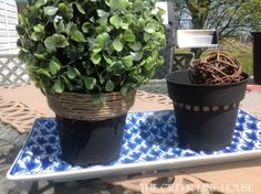 I really like this idea and will be using it to unify all the plastic pots I have laying around. :)
