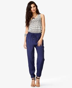 Cuffed Drawstring Pants | FOREVER21 - 2037687289 $18
