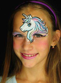 kinder einhorn make up stirn augen fabelwesen #carnival