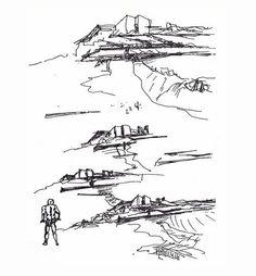 Renovation of old Boa Nova Tea House by Álvaro Siza Vieira Architecture Panel, Architecture Details, Architecture Sketches, Fast Drawing, Neri And Hu, Architect Drawing, House Sketch, Hand Sketch, Conceptual Design