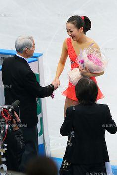 (L to R) . Nobuo Sato Coach, .Mao Asada (JPN), .NOVEMBER 23, 2012 - Figure Skating : .ISU Grand Prix of Figure Skating 2012/2013 .NHK Trophy .Women's Short Program .at Sekisui Heim Super Arena Grande21, Miyagi, Japan. .(Photo by YUTAKA/AFLO SPORT) [1040]