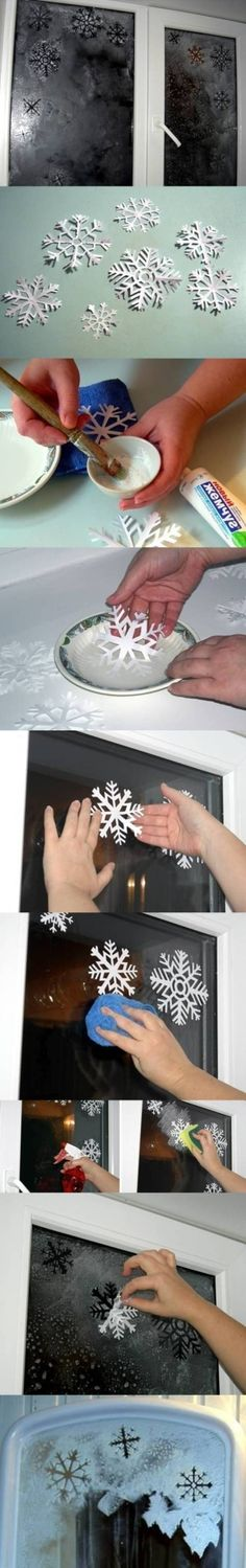 DIY Snowflakes Window Decoration DIY Snowflakes Window Decoration by diyforever