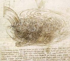 First drawing of turbulence - Leonardo da Vinci
