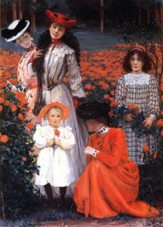 View A family group by Albert Herter on artnet. Browse upcoming and past auction lots by Albert Herter. Great Paintings, Old Paintings, Beautiful Paintings, Pintura Exterior, Primitive Painting, 1890s Fashion, Art Students League, Orange Art, Museum Of Fine Arts