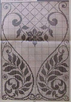 Home Decor Crochet Patterns Part 47 - Beautiful Crochet Patterns and Knitting Patterns Cross Stitch Borders, Cross Stitch Designs, Cross Stitch Patterns, Knitting Patterns, Cross Stitch Kits, Crochet Patterns, Cross Stitches, Crochet Shell Stitch, Crochet Lace Edging