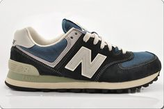 New Balance 574 Womens in 2014 Navy Blue Grey Lovers Shoe One can find more  benefits and price cut here in USA. c158984a75