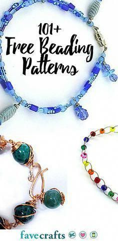 101 Free Beading Patterns From free beaded bracelet patterns to DIY home decor ideas made from beads these bead craft ideas and jewelry patterns are worth looking at Beading Patterns Free, Beaded Bracelet Patterns, Weaving Patterns, Bead Patterns, Embroidery Patterns, Knitting Patterns, Free Pattern, Free Beading Tutorials, Diy Jewelry Making