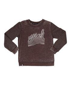 2369f874efe2 Vintage Black  Yeah  Sweatshirt - Toddler   Kids by Mini   Maximus  zulily