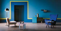 Pareti Azzurro E Oro : Fantastiche immagini su pareti colorate colors wall design