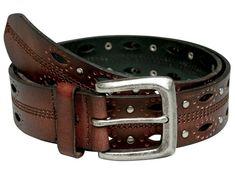 Ремень сдекоративными швами изаклёпками Belt Shop, Men's Belts, Faux Leather Belts, Leather Pattern, Schneider, Well Dressed Men, Suspenders, Leather Working, Fashion Outfits