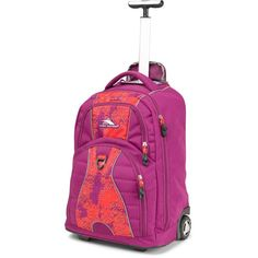 High Sierra Freewheel Wheeled Backpack, Bryblst/Morccantile/Rdlne