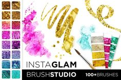 Check out InstaGlam Brush Studio: Gold + Glam by Jessica Johnson on Creative Market