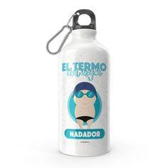 Termo - El termo del mejor nadador, encuentra este producto en nuestra tienda online y personalízalo con un nombre. Water Bottle, Drinks, Swimmers, Carton Box, Store, Crates, Drinking, Beverages, Water Bottles
