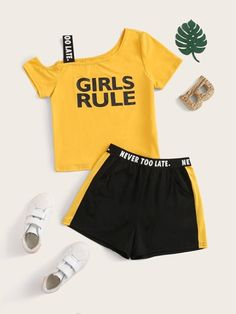 Teenager Outfits, Kids Outfits, Cool Outfits, Girls Fashion Clothes, Kids Fashion, Clothes For Women, Girls Rules, S Girls, Summer Girls
