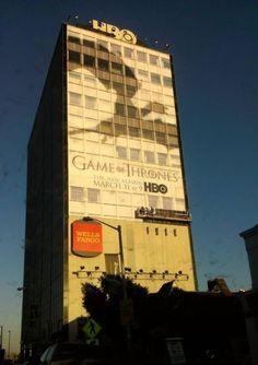 2b9b8324e1 Game of Thrones season 3 advertising dragon shadow win brilliant HBO  building