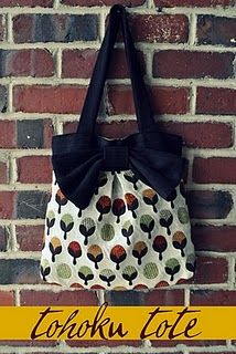 For when I am up for an actual, finished product - type sewing job, this is a really cute bag and a great tutorial.