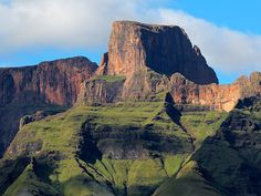 Photo about Sentinal peak in the amphiteater of the Drakensberg mountains, Royal Natal National Park, South Africa. Image of travel, nature, drakensberg - 28991403 South African Holidays, South Country, Images Of Summer, Kwazulu Natal, Africa Travel, Places To See, National Parks, Tours, Adventure