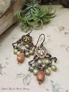 Nadya  Art Jewelry Earrings by AlteredAlchemy on Etsy
